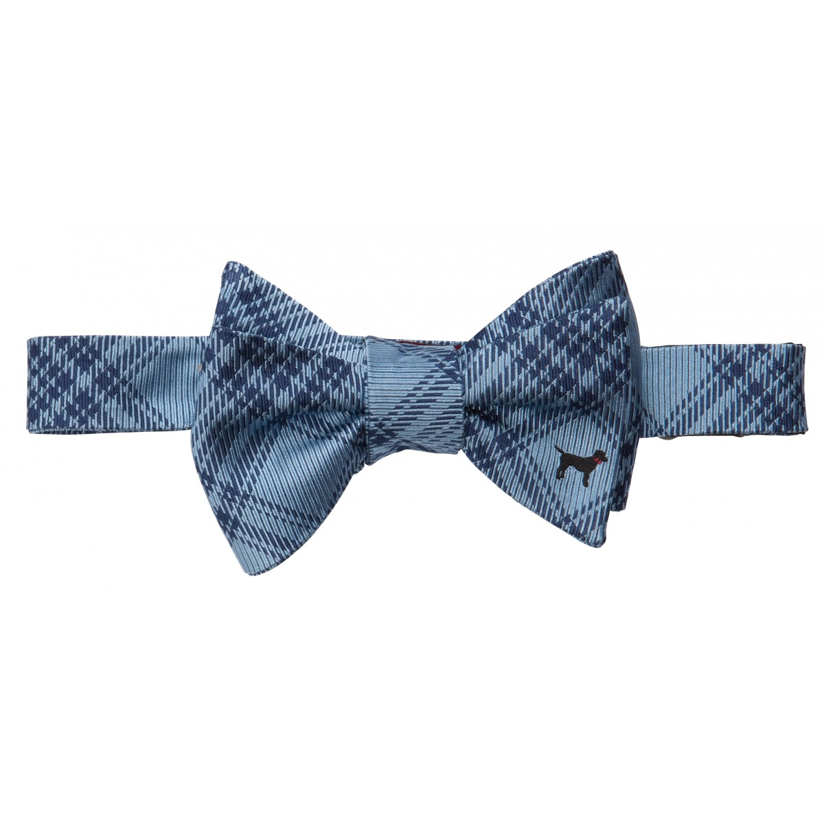 Black Lab Bow: Blue
